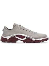 Raf Simons Adidas By Grey And Maroon Red Detroit Sneakers
