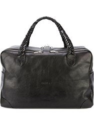 Golden Goose Deluxe Brand Braided Handle Holdall Black