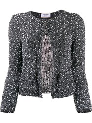 Snobby Sheep Melange Knitted Cardigan Black