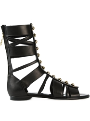 Fausto Puglisi Studded Gladiator Sandals Black