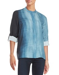 T Tahari Textured Button Front Shirt