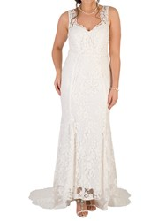 Chesca Scallop Lace Wedding Dress Ivory