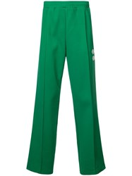 Off White Side Panelled Track Pants Green