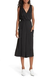 Brochu Walker Nyssa Wide Leg Sleeveless Jumpsuit Black Onyx