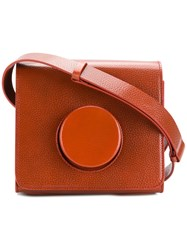 Christophe Lemaire Camera Bag Yellow And Orange