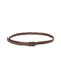 Post And Co Belts Dark Brown