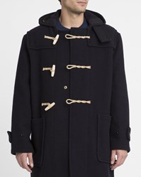 Gloverall Navy Original Monty Mid Duffle Coat Blue