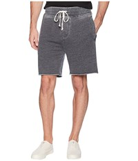 Alternative Apparel Burnout French Terry Raw Edge Campus Shorts Washed Black