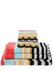Missoni Wolf Set Of 5 Cotton Terry Towels Multicolor