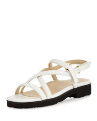 Taryn Rose Taylor Patent Strappy Sandal White