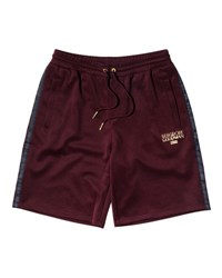 Kith Embroidered Drawstring Shorts Burgundy