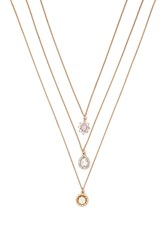 Forever 21 Faux Gem Pendant Necklace Set