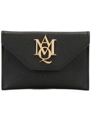 Alexander Mcqueen 'Insignia' Envelope Card Holder Black