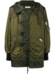 Coach Snorkel Military Jacket Green