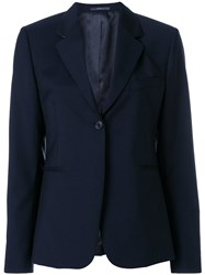 Paul Smith Fitted Single Breasted Jacket Blue