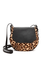 Rag And Bone Haircalf Bradbury Small Flap Hobo Leopard