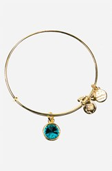 Women's Alex And Ani Birthstone Expandable Wire Bangle December Blue Zircon