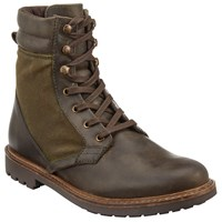 John Lewis Wax Canvas Boots Olive