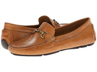 Massimo Matteo Driver With Bit Tan Bison Brushed Gold Bit Moccasin Shoes Brown