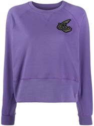 Vivienne Westwood Logo Embroidered Sweatshirt Purple