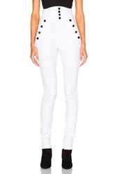 Isabel Marant Marvin High Waisted Jeans In White