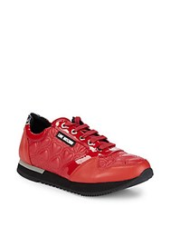 Love Moschino Quilted Platform Sneakers Red