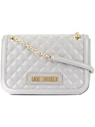 Love Moschino Quilted Soft Shoulder Bag Grey