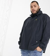 Lyle And Scott Zip Through Hooded Jacket In Navy
