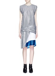 Toga Archives Layered Contrast Hem Gingham Check Dress Multi Colour