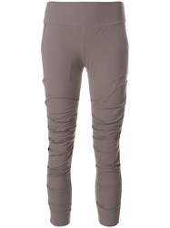 Lost And Found Ria Dunn Cropped Fitted Leggings Grey