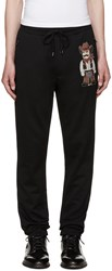 Dolce And Gabbana Black Embroidered Cowboy Lounge Pants