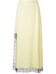 3.1 Phillip Lim Lace Detailed High Slit Skirt Yellow