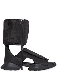 Rick Owens Padded Nylon Cargo High Top Sandals
