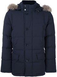 Hackett Padded Down Parka Blue