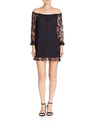 Nightcap Clothing Dentelle Off The Shoulder Dress Black