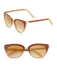 Vince Camuto 60Mm Cats Eye Sunglasses Brown