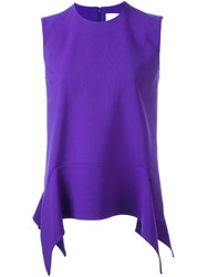 Victoria Beckham Peplum Top Pink And Purple