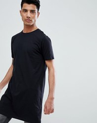 Asos Design Super Longline T Shirt Black