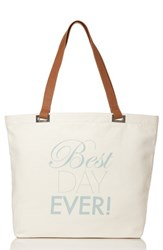 Dessy Collection 'Best Day Ever' Tote White Ivory
