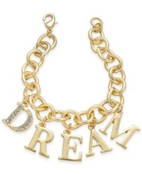 Thalia Sodi Gold Tone Pave Dream Charm Bracelet Only At Macy's
