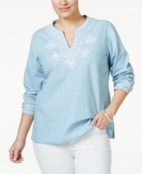 Nanette By Nanette Lepore Plus Size Embellished Tunic Only At Macy's Surf Wash