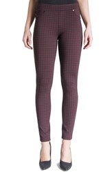 Liverpool Jeans Company Women's Quinn Pull On Knit Leggings Port Wine