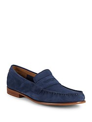 Cole Haan Topsail Leather Penny Loafers Blazer Blue