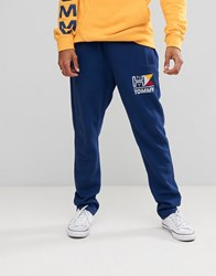 Tommy Jeans Nautical Logo Joggers In Blue Blue Depths