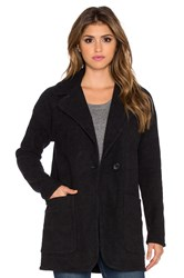 James Perse Boucle Coat Black