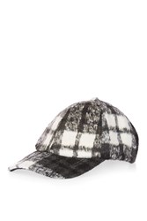 Topshop Brushed Check Cap Monochrome