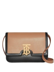 Burberry Small Leather Tb Bag Brown