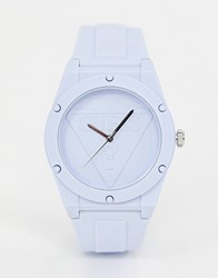 Guess Retro Pop W0979l6 Silicone Watch Blue