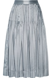 Jill Stuart Chloe Striped Silk Skirt