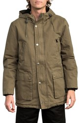 Rvca Ground Control Ii Cotton Parka Burnt Olive